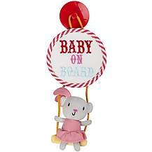 image of Vintage Circus Evie the Acrobat Baby On Board Sign