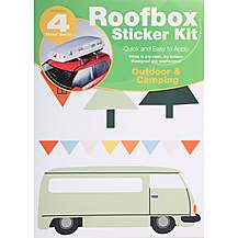 image of Roofbox Sticker Kit - Camping