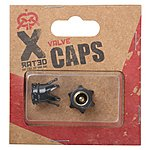 image of X Rated Crown Black Valve Caps