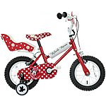 image of Disney Minnie Mouse Kids Bike - 12""