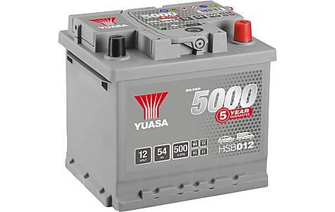 image of Yuasa 12V Silver Car Battery HSB012 - 5 Yr Guarantee