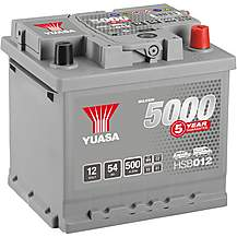 image of Yuasa 12V Silver Car Battery HSB012 - 5 Yr Guarantee