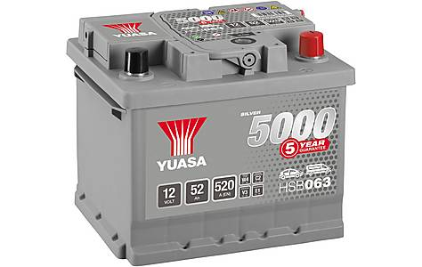 image of Yuasa 12V Silver Car Battery HSB063 - 5 Yr Guarantee