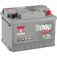 Yuasa 12V Silver Car Battery HSB075 - 5 Yr Guarantee