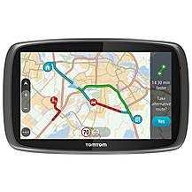 image of TomTom GO 6100 Sat Nav with MyDrive & Lifetime Traffic & Lifetime World Maps