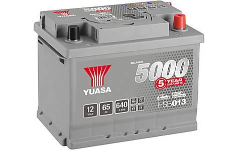 image of Yuasa 12V Silver Car Battery HSB013 - 5 Yr Guarantee