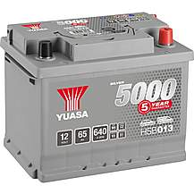 image of Yuasa 12V Silver Car Battery HSB013 - 5 Yr Guarantee