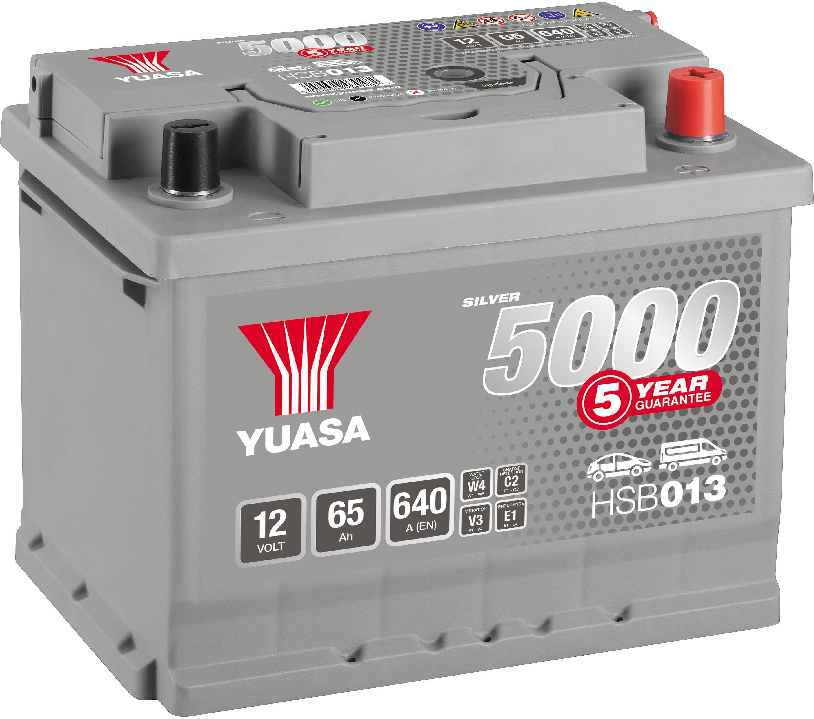 Yuasa V Silver Car Battery