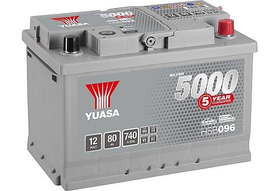 Yuasa 12V Silver Car Battery HSB096 - 5 Yr Guarantee