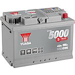 image of Yuasa 12V Silver Car Battery HSB096 - 5 Yr Guarantee