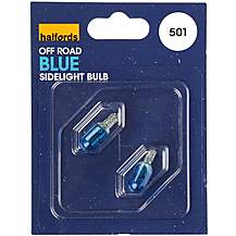 image of Halfords (HBU501) Ultra Blue 5W Car Bulb x 2