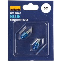 Halfords 501 W5W Off Road Blue Car Bulbs x 2