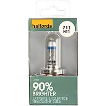 image of Halfords 711 H11 +90 Brighter Car Bulb x 1