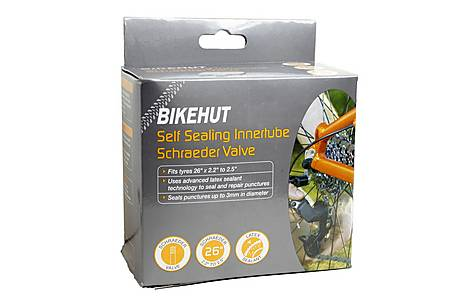 "image of BikeHut Schrader Self Sealing Inner Tube - 26"" x 2.2"" - 2.5"""