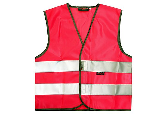 WOWOW High Visibility Reflective Kids Pink Waistcoat - Medium