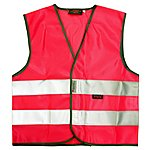 image of WOWOW High Visibility Reflective Kids Pink Waistcoat - Medium