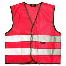 image of WOWOW High Visibility Reflective Kids Pink Waistcoat - Small
