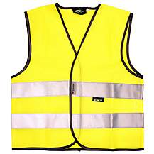 image of WOWOW High Visibility Reflective Kids Yellow Waistcoat - Medium