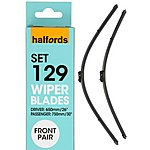 image of Halfords Wiper Blade Set 129 - Flat