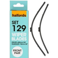 Halfords Set 129 Wiper Blades - Front Pair