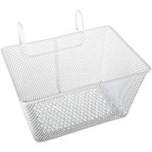 image of Kids Metal Bike Basket - White