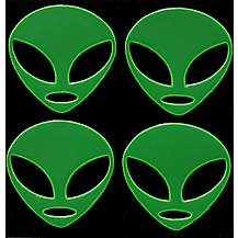 image of Green Alien Hi-Vis Stickers