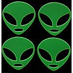 image of Green Alien Hi-Vis Stickers