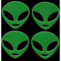 Green Alien Hi-Vis Stickers