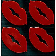 image of Red Lips Hi-Vis Stickers