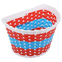 image of Kids Red, White & Blue Woven Bike Basket