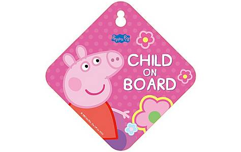 image of Peppa Pig Baby On Board Sign