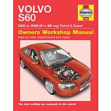 image of Haynes Volvo S60 (00 - 08) Manual