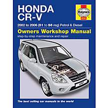 image of Haynes Honda CR-V (02 - 06) Manual
