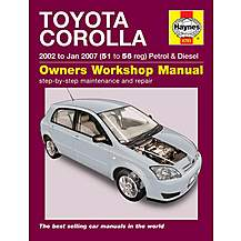 image of Haynes Toyota Corolla (02- Jan 07) Manual