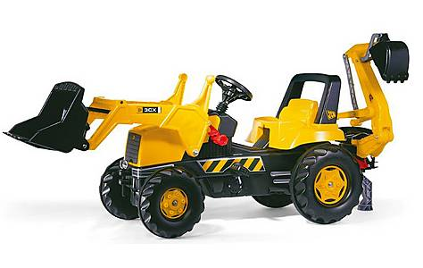image of Robbie Toys JCB Tractor With Frontloader & Rear Excavator Pedal Ride On