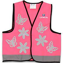 image of LittleLife Reflective Safety Vest - Pink