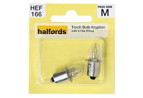 Halfords Krypton Torch Bulbs 4.8V 0.75A (Pifco)
