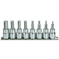 Halfords Advanced 8 Piece Hex Bit Socket Rail 3/8""