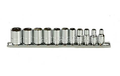 image of Halfords Advanced 11 Piece Socket Rail 1/4""
