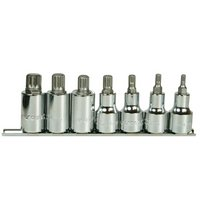 Halfords Advanced 7 Piece Spline Bit Socket Rail 1/2""