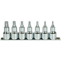 Halfords Advanced 7 Piece Torx Bit Socket Rail 1/2""