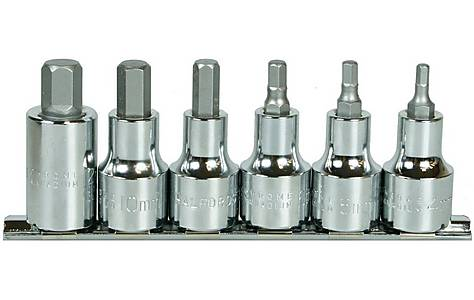 image of Halfords Advanced Professional 6 Piece Hex Bit Rail 1/2""
