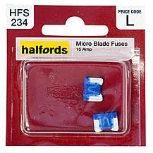 image of Halfords Micro Blade Fuses 15 Amp