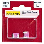 image of Halfords Micro Blade Fuses 4 Amp