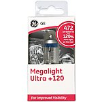 image of GE 472 H4 Megalight Ultra +120 Brighter Car Bulb x 1
