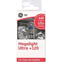 image of GE 448 H1 Megalight Ultra +120 Brighter Car Bulb x 1