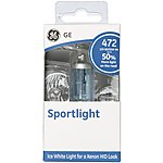 image of GE 472 H4 Sportlight +50 Brighter Ice White Car Bulb x 1