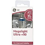 image of GE 472 H4 Megalight Ultra +90 Brighter Car Bulb x 1
