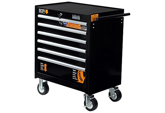Halfords Industrial 6 Drawer Ball Bearing Tool Cabinet