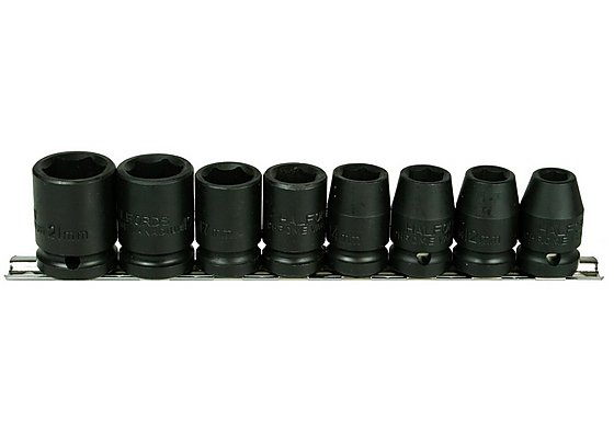 Halfords Advanced Professional 8 Piece Impact Socket Rail 1/2